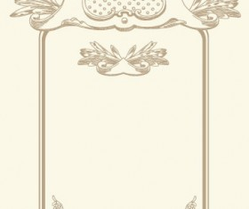 vintage cards Borders vector 01