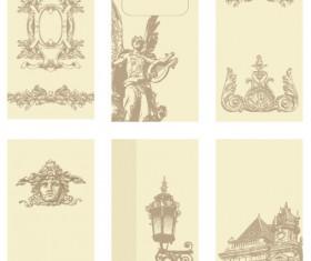 vintage cards Borders vector 02