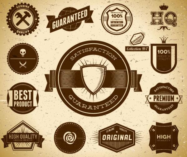 free vector vintage Label Set 01