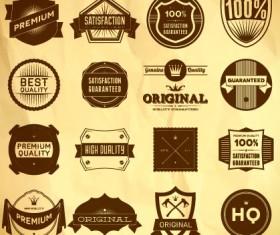free vector vintage Label Set 02