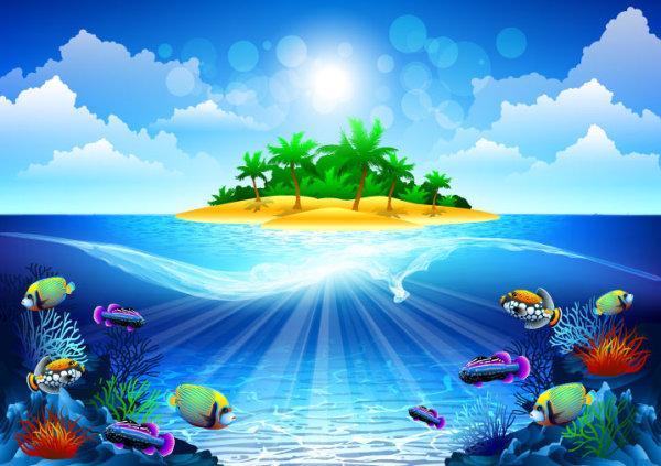 free vector Shiny Seawater 04