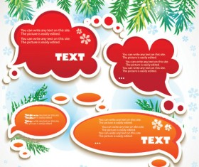 Set of Creative Speech labels vector 01