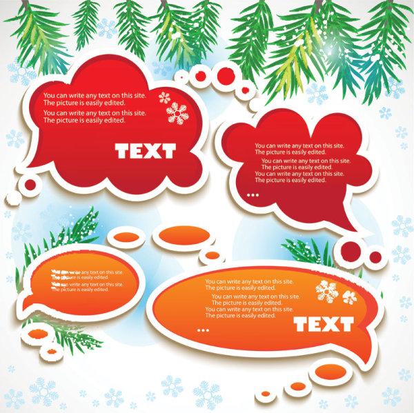 Set of Creative Speech labels vector 01