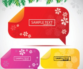 Set of Creative Speech labels vector 02