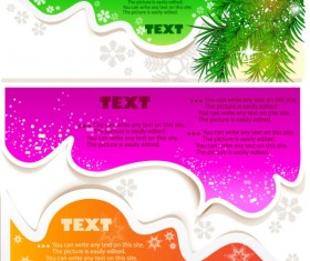 Set of Creative Speech labels vector 03