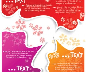 Set of Creative Speech labels vector 04