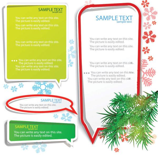 Set of Creative Speech labels vector 06