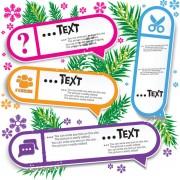 Link toSet of creative speech labels vector 07