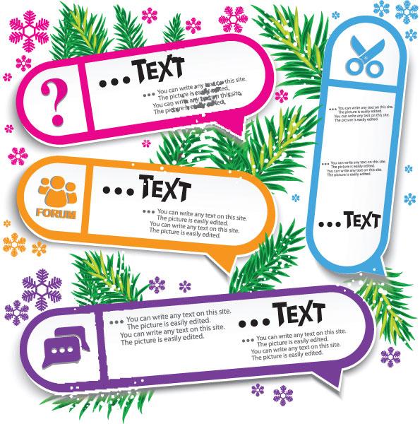 Set of Creative Speech labels vector 07