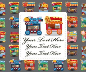 Cartoon toy front cover vector background 01