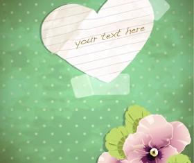 free Exquisite romantic cards vector 01