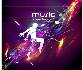 Music Party – vector Backgrounds part 01
