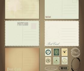 Vintage Stationery ,Stamp and Envelope free Vector 1