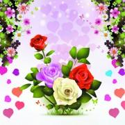 Link toFree vector beautiful roses 01