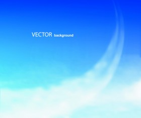 Blue Sky & white cloud background Vector 01
