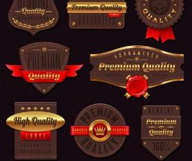 vintage Golden Labels Vector 01