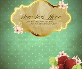 free Exquisite romantic cards vector 02