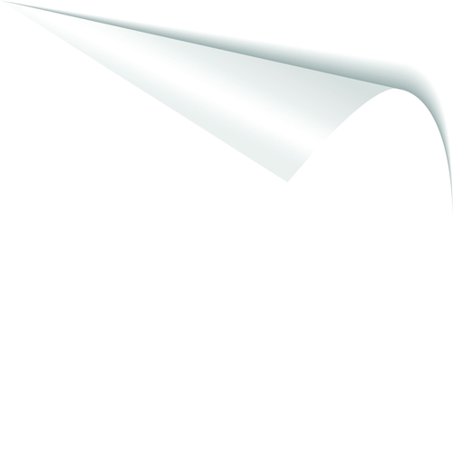 White Curled Paper Corner free vector 03