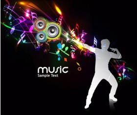 Music Party – vector Backgrounds part 03