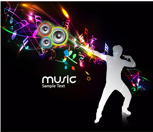 Music Party   vector Backgrounds part 03