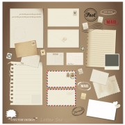 Link toVintage stationery ,stamp and envelope free vector 3