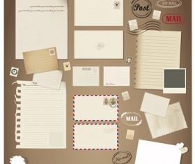 Vintage Stationery ,Stamp and Envelope free Vector 3