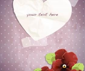 free Exquisite romantic cards vector 03