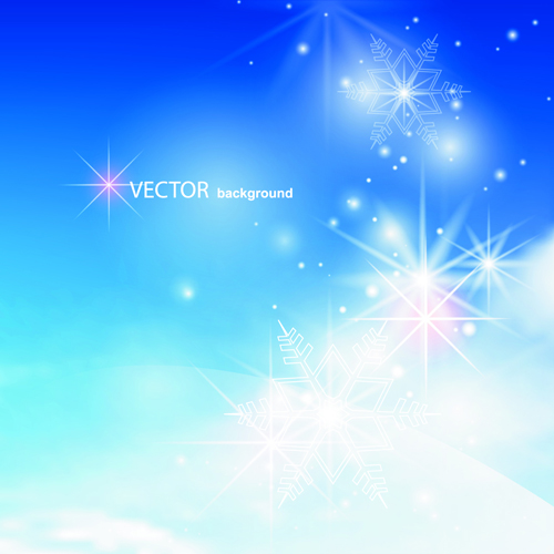 Blue Sky & white cloud background Vector 03