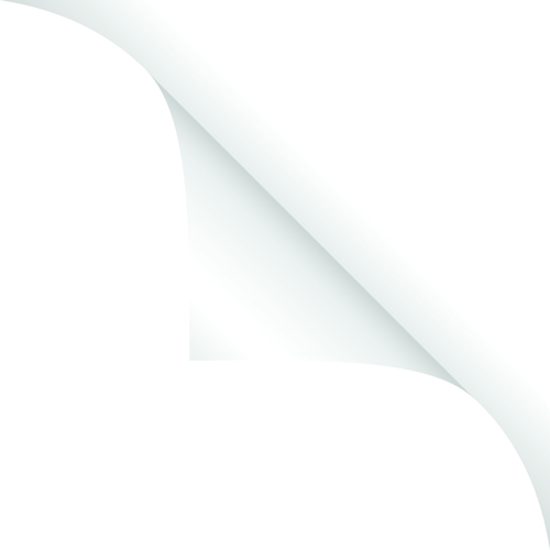 White Curled Paper Corner free vector 04