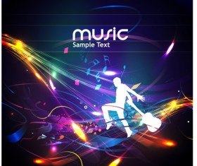 Music Party – vector Backgrounds part 04