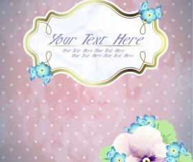 free Exquisite romantic cards vector 04