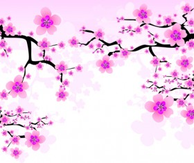 Japan Cherry Blossoms free vector 02