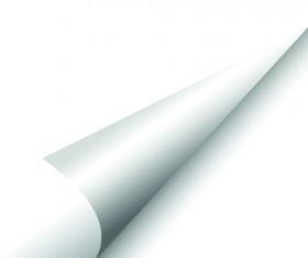 White Curled Paper Corner free vector 05