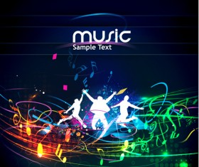 Music Party – vector Backgrounds part 05