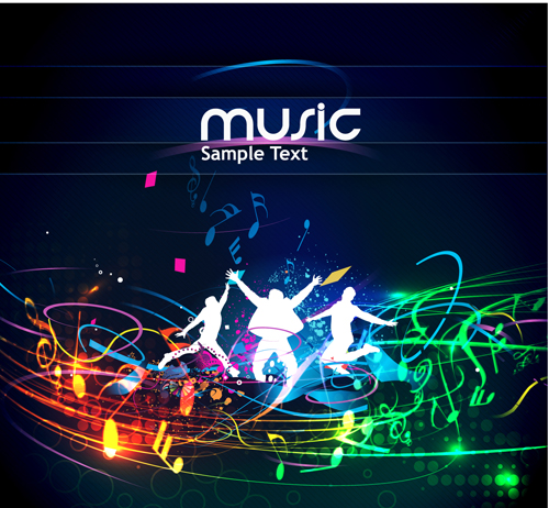 Music Party   vector Backgrounds part 05