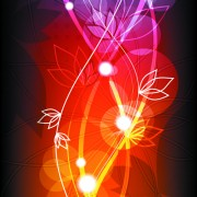 Link toAbstract halation flowers backgrounds vector 2