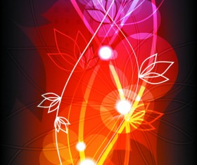 Abstract Halation Flowers Backgrounds Vector 2