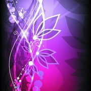 Link toAbstract halation flowers backgrounds vector 1