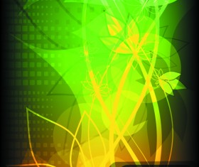Abstract Halation Flowers Backgrounds Vector 3