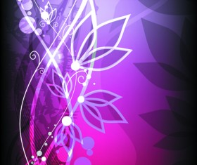 Abstract Halation Flowers Backgrounds Vector 1