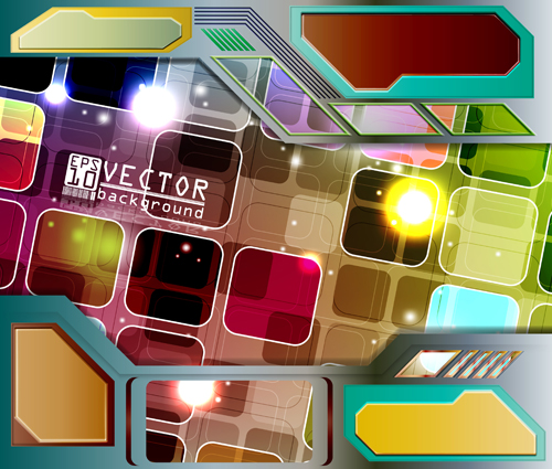Abstract colourful Stylish vector background 03