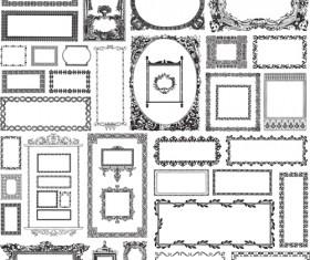 Black & white vintage Frames Mix vector