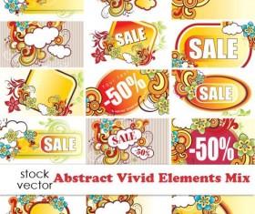 Business sale discount vector labels