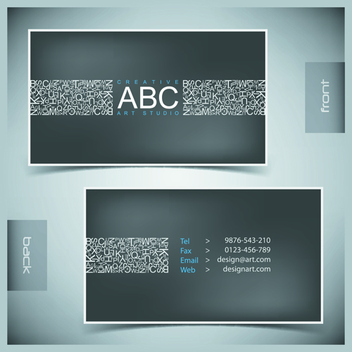 Creative business cards vector background 02 vector for Free business card backgrounds