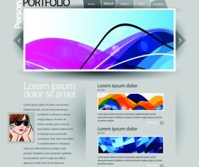 Gray Vector Website Templates design elements 02