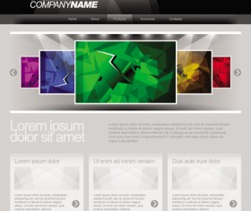 Gray Vector Website Templates design elements 01