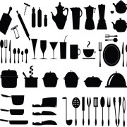 Link toKitchen utensils vector silhouettes