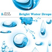 Link toSet of bright water drops vector