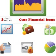 Link toSet of business financial icons vector