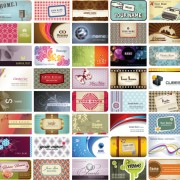 Link toSet of stylish cards vector